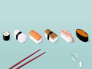 Tipos de sushi, comida japonesa