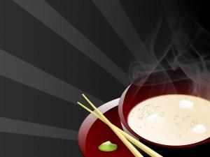 Postal: Dibujo de sopa japonesa
