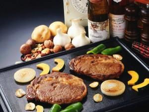 Carne con verduras a la plancha
