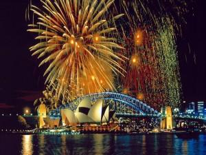 Postal: Fuegos artificiales en Sydney