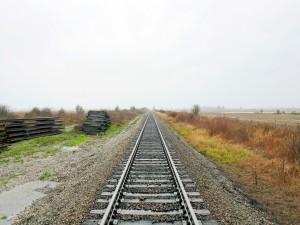 Postal: La vía del tren