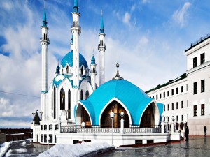 Postal: Mezquita Qol-Şärif, en Kazán (Rusia)