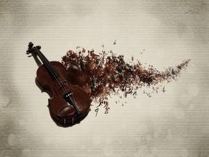 Notas musicales fuera del violín