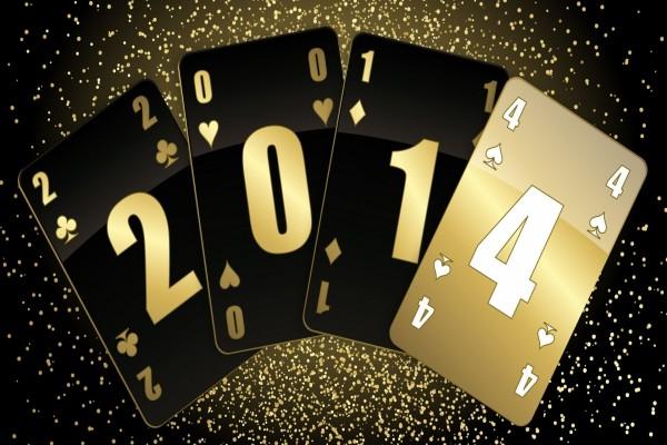 Cartas formando el Nuevo Año 2014