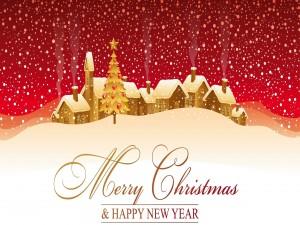 Tarjeta de felicitación para Navidad y Año Nuevo
