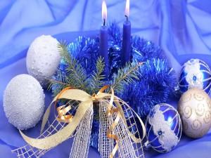 Centro decorativo para los días festivos de Navidad