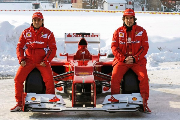 Fernando Alonso y Felipe Massa, equipo Ferrari