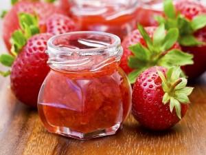 Postal: Mermelada de fresas