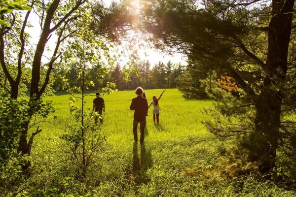 Un día con la familia en la naturaleza