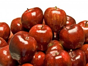 Deliciosas manzanas rojas