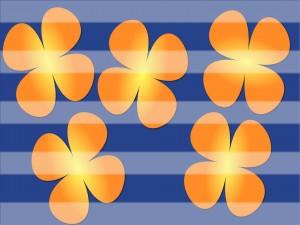 Tréboles naranjas