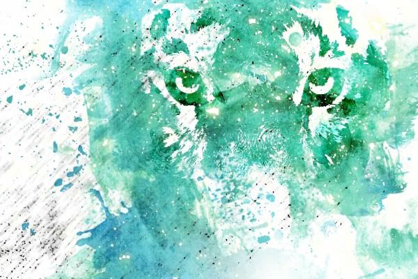 Un tigre artístico
