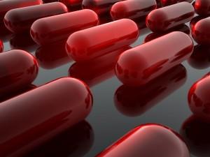 Cápsulas rojas
