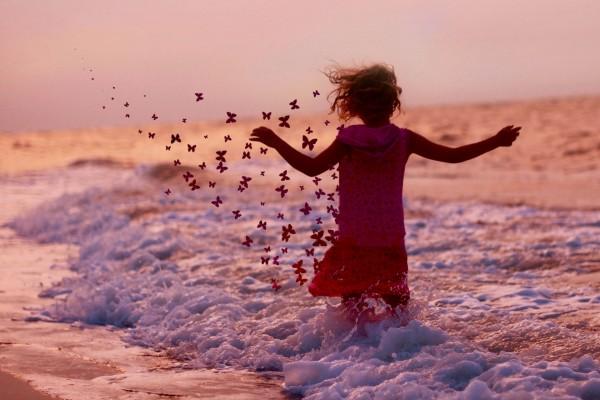 Mariposas en la playa