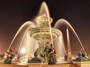 Fuente de los Mares en la Plaza de la Concordia (París)