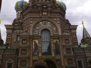 Postal: Iglesia del Salvador sobre la sangre derramada (San Petersburgo, Rusia)
