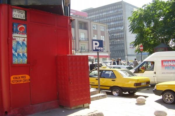 Parada de taxi en Turquía