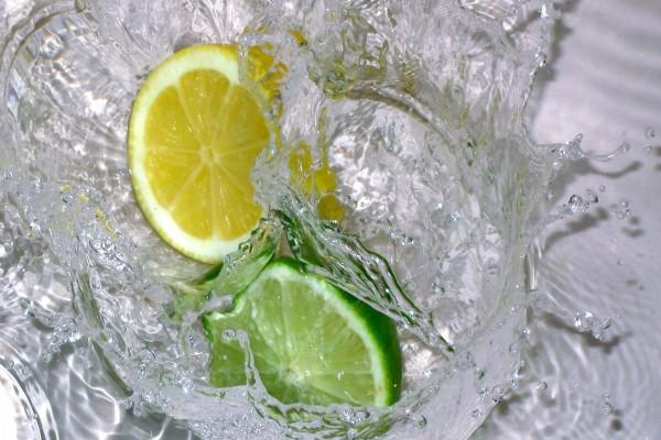 Rodaja de lima y limón