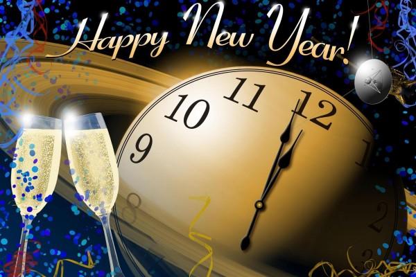 Copas de cava para celebrar el Año Nuevo