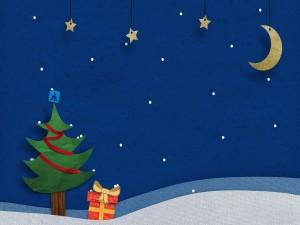 Postal: Noche de Navidad
