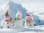 Tres muñecos de nieve