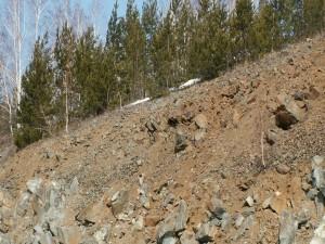 Postal: Piedras en la ladera