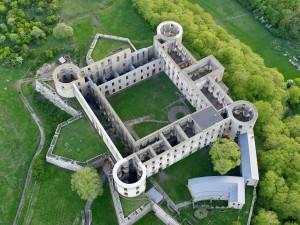 Castillo de Borgholm visto desde el aire