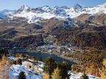 St. Moritz y las montañas nevadas (Suiza)
