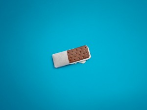 Postal: Sandwich de helado