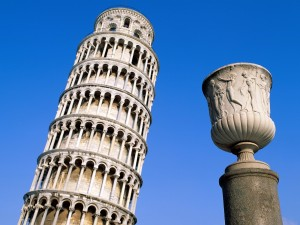 Postal: Torre de Pisa, Italia