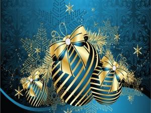 Postal: Adornos para arreglar la mesa navideña