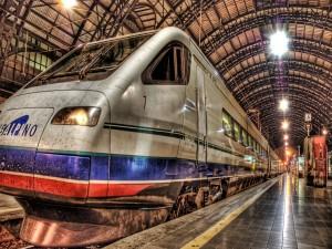 Tren parado en la estación