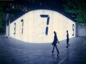 Postal: Distrito de Roppongi por la noche (Tokio)