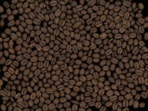 Postal: Granos de café tostados