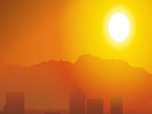 Postal: La intensa luz del sol