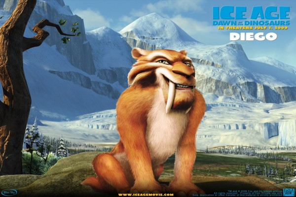 Diego en Ice Age Dawn of the Dinosaurs