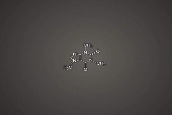 La fórmula química de la cafeína