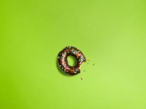 Donut mordido