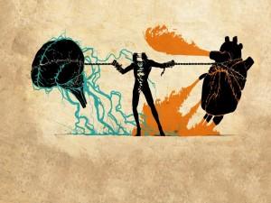 Postal: Cerebro vs Corazón