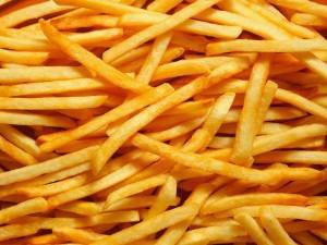 Patatas fritas en bastón