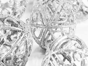 Postal: Bolas huecas para Navidad