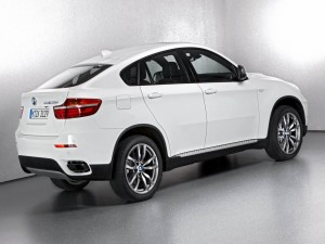 El lateral de un BMW X6