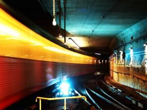 Postal: Las vías del metro