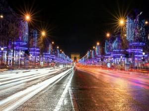 Postal: Luces en la noche de París