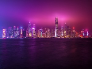 Postal: Colores de Hong Kong
