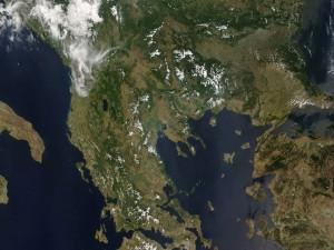 Postal: Grecia desde el espacio
