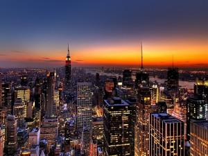 Comienza el día en la ciudad de Nueva York