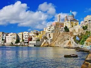 Postal: Una isla griega