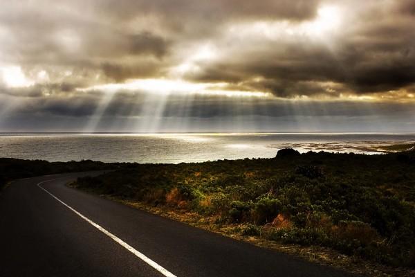 Carretera hacia el mar