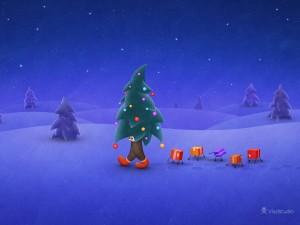 El árbol de Navidad viajando